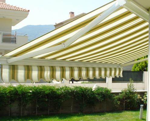Çeşme Tente Pergola, Kasetli Tente Modeli 2